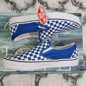 Vans men Checkerboard blue white